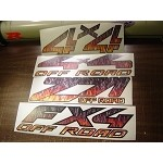 Flamed offroad decals