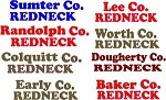 Redneck county decals